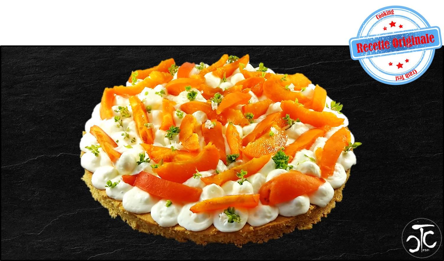 Tarte aux abricots et chantilly au thym recette originale cooking crash test - Recette tarte salee originale ...
