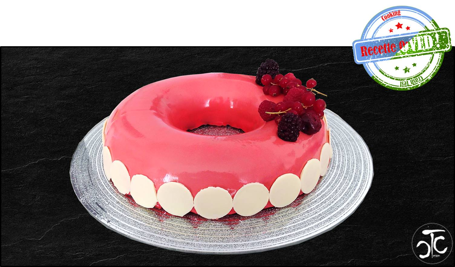 Entremet fruits rouges tonka (semi crashtest)