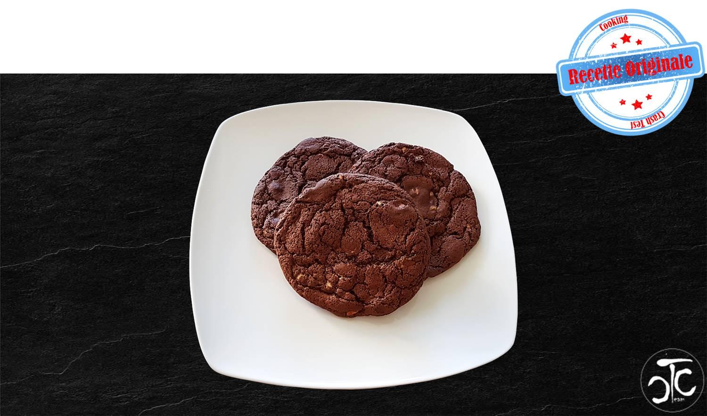 Cookies chocolat noir et pépites de chocolat blanc (recette originale)